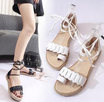d5a0e8188e4b7 zm34900a china wholesale sandal new model ladies flat pu sandals shoe