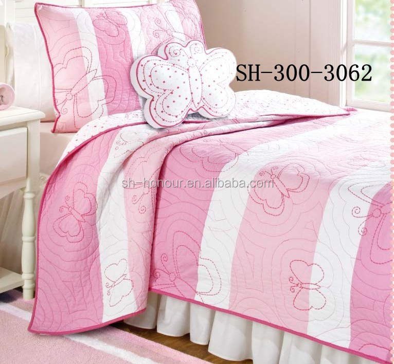 Grils Sweety Polyester Patchwork Quilt Set for Child