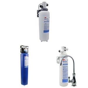 Aqua-Pure Under Sink Water Filtration System, Model AP Easy Complete & AP904 - Whole House Water Filtration System & 3M Aqua-Pure Under Sink Water Filtration System, Model 3MFF100, 6 per case, 5616318