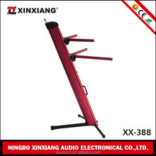 Hot Sale Foldaway Metal red keyboard stand with music holder