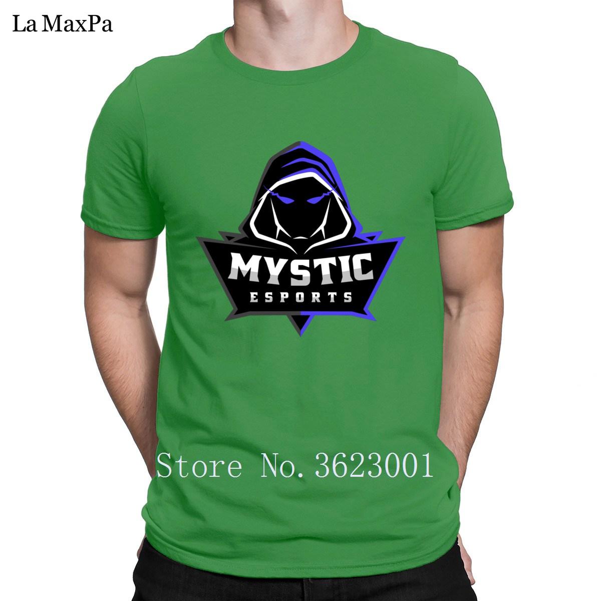 56e853472 The New Men S Tee Shirt Mystic Esports Logo Purple T Shirt For Men ...