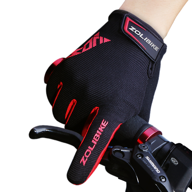 ZL2320 Special Sports Bicycle Accessories Pad Touch Screen Full Finger Shockproof Gloves Bike Bicycle Gloves фото