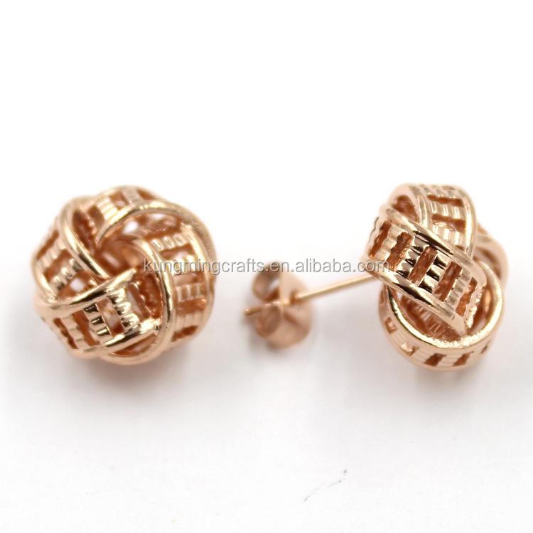 3d6c77059 Fancy New Model Dubai Gold Stud Earrings Fashion Rose Gold Zinc Alloy Earrings  Studs