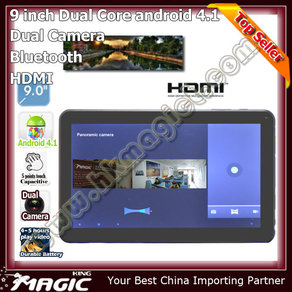 9 inch android 4.1 8gb tablet <strong>pc</strong> with hdmi input usb port bluetooth wifi