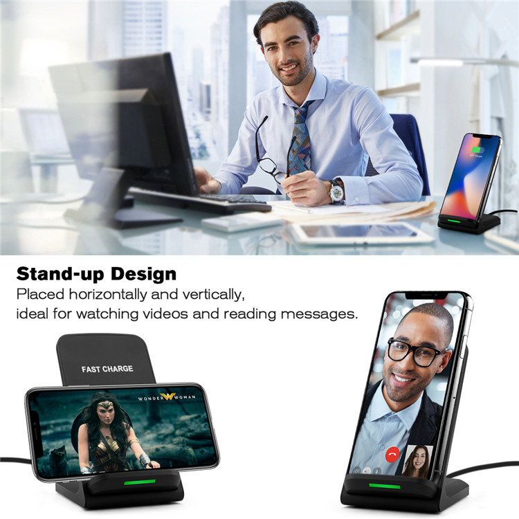 Amazon Top Sales Snelle Mobiele Telefoon Draadloze Oplader Voor Huawei mate 20, QI Draadloze Oplader Voor Samsung Galaxy A8 S8 S9 Plus