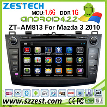 ZESTECH lastest android car stereo for Mazda 3 new model pure android 4.2.2 build in wifi 3g internet