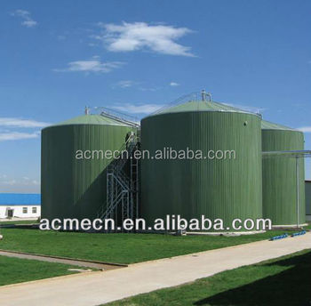 China Manufacture Enamel Steel Economic Biogas Plant Digester