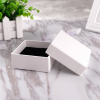 small moq blank white paper gift jewellery packaging box