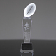 Fantasy Custom Crystal Glass Football Soccer Trophies for Sale