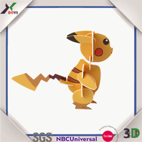 2016 new product pokemon go pog 3d promotional puzzle game toys