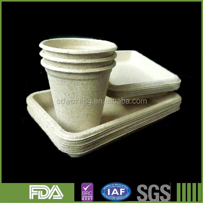 Wheat straw pulp paper cup