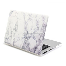 White Marble Pattern Rubber Coated Hard Shell Case Cover For Macbook Pro 13 Cases