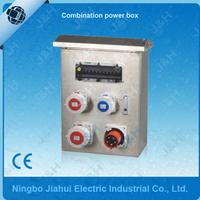 3 phase stainless steel power distribution box, waterproof metal box, outdoor panel mounted power box