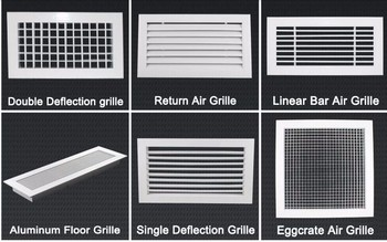 Abs Air Conditioning Diffuser Ceiling Diffuser Fixed