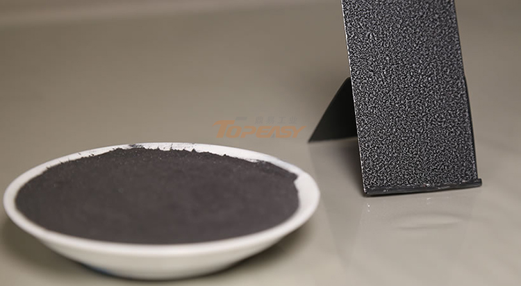 China ral black sand texture powder coating manufacturers