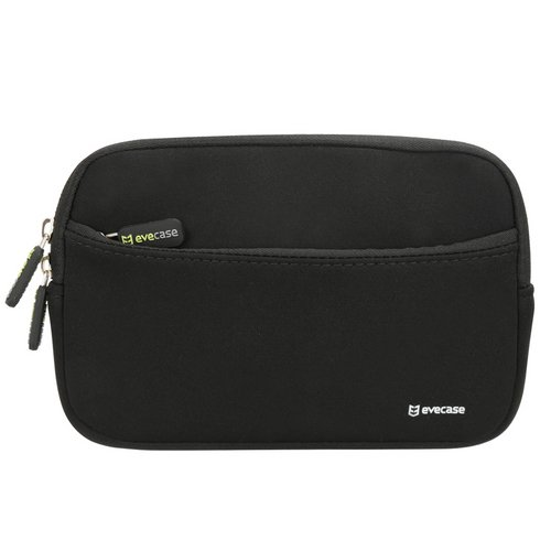 Evecase Portable Case Bag Cover with Extra Front Pocket for TomTom VIA 1535TM, Garmin nüvi 57LM/55LM/54LM 5-Inch Portable Vehicle GPS with Lifetime Maps - Black
