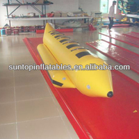 inflatable banana boat/sport games with 0.9mm PVC Tarpaulin from PLATO best materials