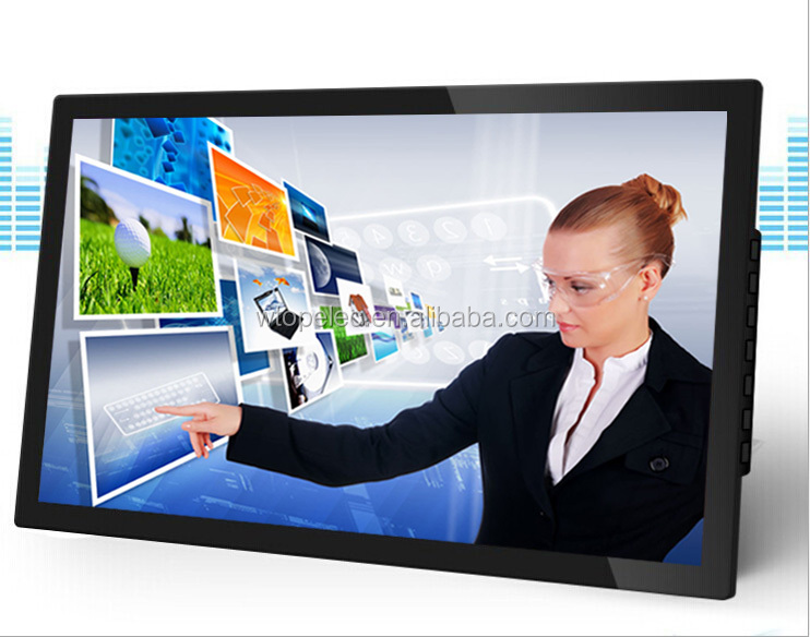 Wall mounted, desktop or floor stand HD dual-core 22 inch networks advertising display Remote Manageable
