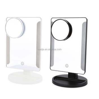 Professional 20 Led Light Abs Touch Screen Makeup Mirror Women