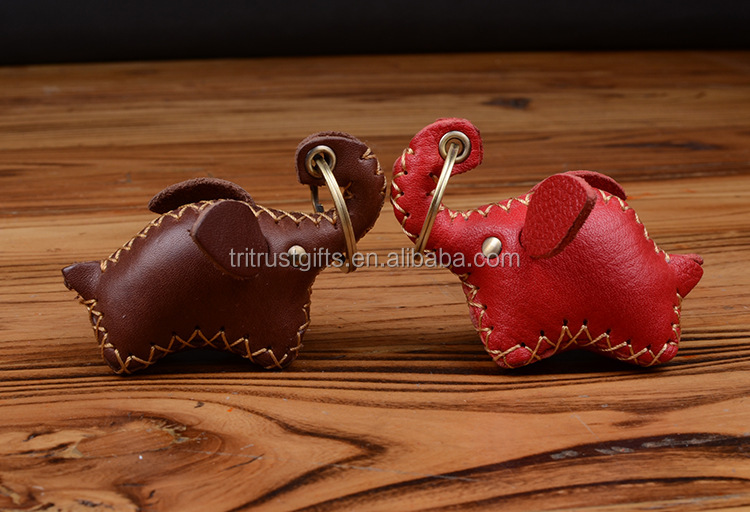 Handbag Charms Accessories Hand Made Red Lucky Elephant Keyrings Key Chains