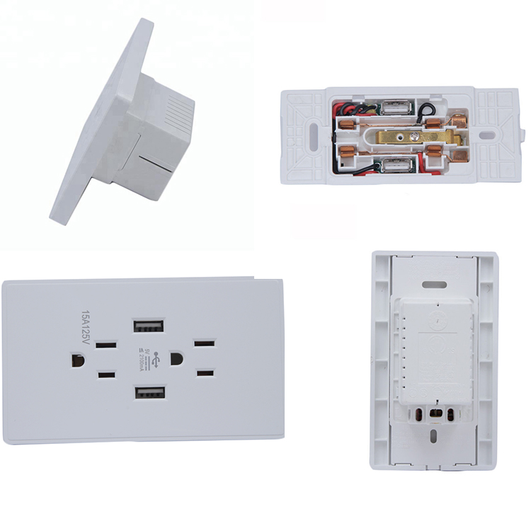 Bx-U011 Electric Multi-Function Universal Usb Wall Socket, Usb Power Socket