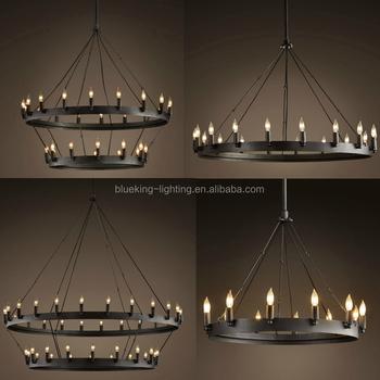 Iron Circle Pendant Light Knight Chandelier Lighting For Hotel Bk1048 P