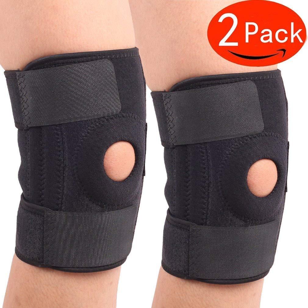 1d9d96d299 Get Quotations · CTKcom 2-Pack Knee Brace,Knee Brace Support Sleeve  protector For Arthritis,Neoprene