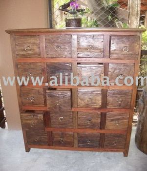 Antique Chinese Medicine Cabinet