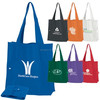 Customized logo fold-up shopper tote bag with snap closure