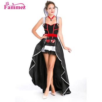 Lujoso Reina Traje W3031 Reina De Corazones Traje Para Halloween
