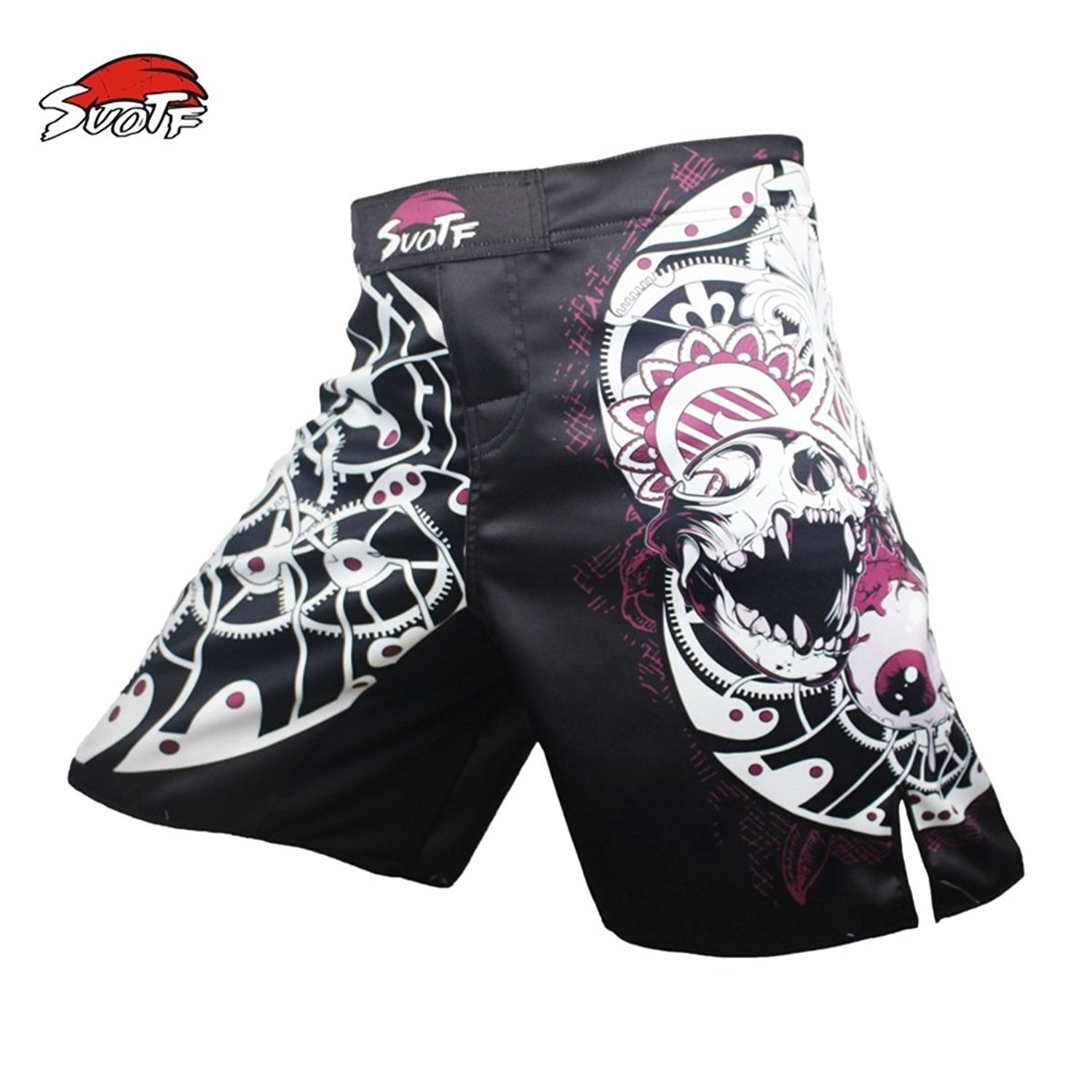 SUOTF MMA Boxing Pattern Motion Picture Cotton Loose Size Training Kickboxing Shorts MMA Fight Shorts Muay Thai MMA