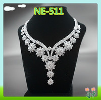 Cheerfeel wholesale bling bling decorative crystal necklace jewelry for wedding
