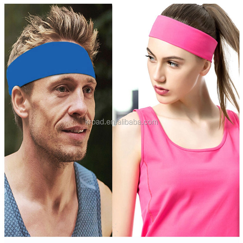 Dry fit sports yoda headband stretch elastic hair bands