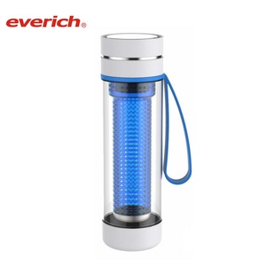 Everich hard plastic water bottle thickness of plastic cup 700ml tritan bottle carry handle