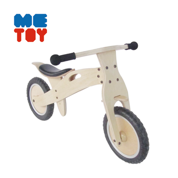 EN 71 cetificated mini two seat kids wooden bike
