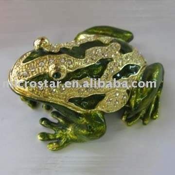 Alloy frog jewelry box