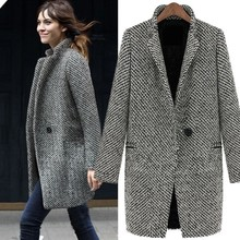 Signore Inverno caldo risvolto trench in lana <span class=keywords><strong>cachemire</strong></span> <span class=keywords><strong>cappotto</strong></span> donne 19306
