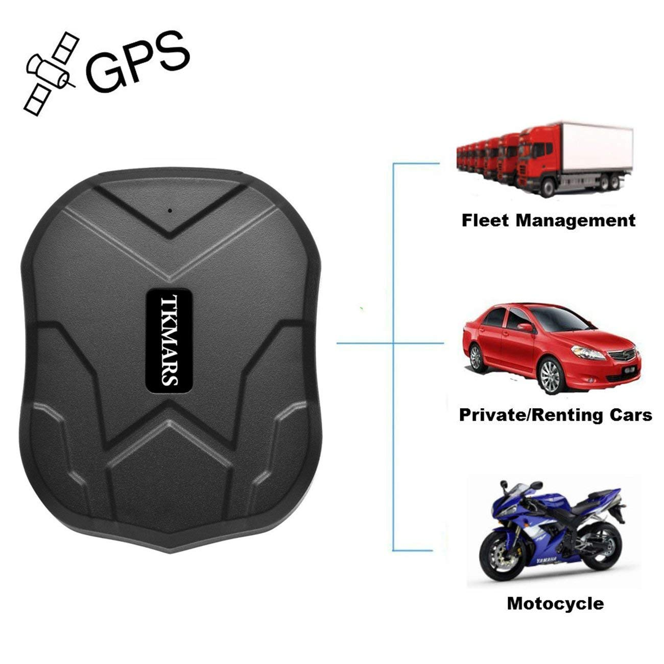 Vehicle Tracker,Hangang GPS Tracking Device Location Tracker Remote Monitoring Real-time Tracking Cars/Vehicles Waterproof,90 Days Standby Time