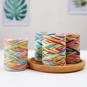 80M 6PLY Colorful Christmas Raffia Paper String Twisted Gift Wrap Ribbon Raffia Paper Yarn for Christmas Craft and Party