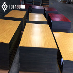 IDEABOND nano coating wood color acp sheet/wall cladding/building materials aluminum composite panel