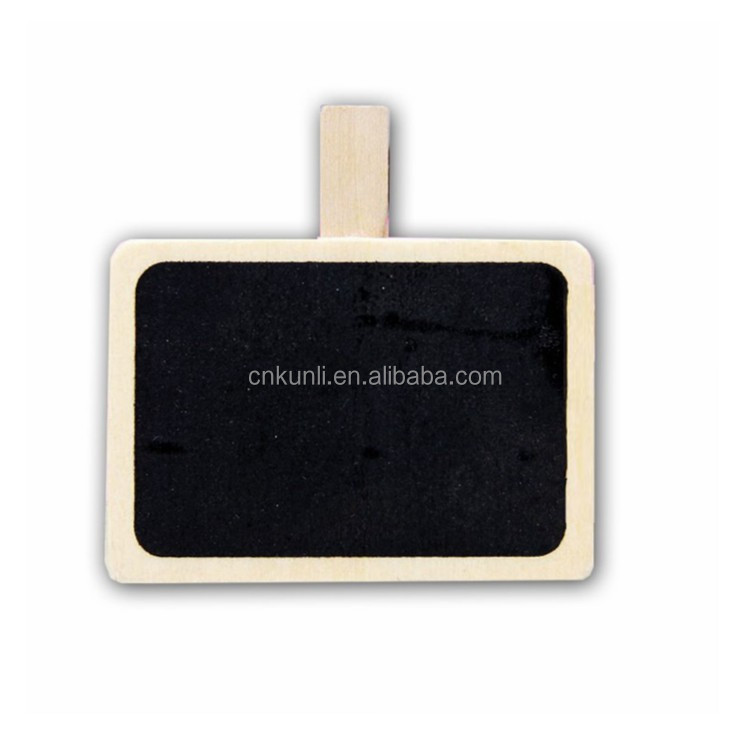 wooden mini message blackboard