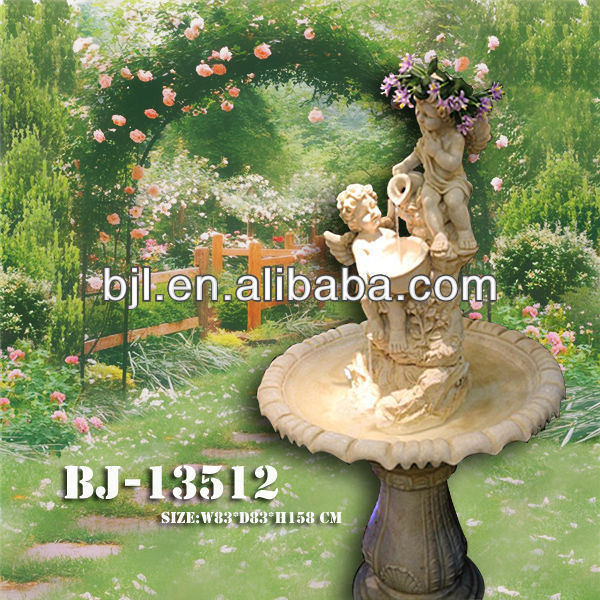 garden polyresin angel fountains
