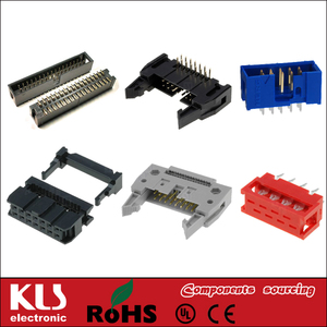 Good quality 2.54mm idc socket connector 6 8 10 12 14 16 18 20 24 26 30 34 40 44 50 64 pin UL CE ROHS KLS Brand 48
