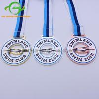 china manufacturer custom die casting metal plated gold silver bronze pin medal