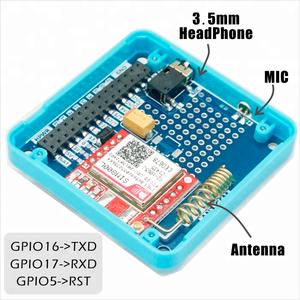 M5Stack Official GSM Module SIM800L Stackable IoT ESP32 Development Board  with MIC & 3 5mm Headphone Jack GSM Development Board