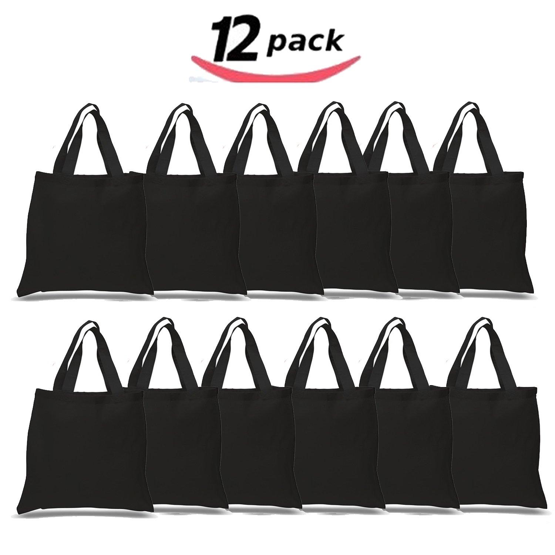 78bf37df257a Get Quotations · BULK 12 PACK (1 Dozen) Wholesale 100% Cotton Tote Bags