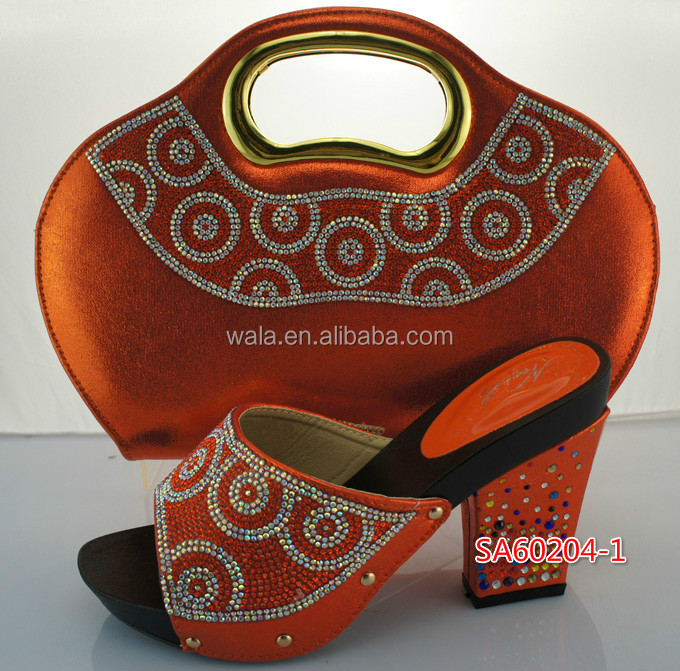 SA60204 for orange bag style and italian toe evening shoes rhinestone 1 sandal LASEST wedding with peep matching party rnWwgqAr