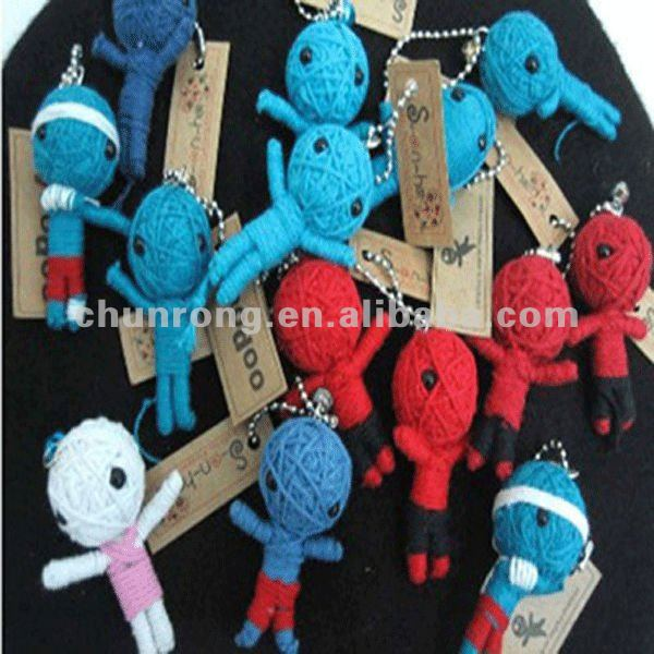 string dolls cheap voodoo doll keychain