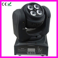 Hot sell free shipping 4x10w LED mini wash moving head and 1x10w Led beam moving head Double Face Disco Club Lighting