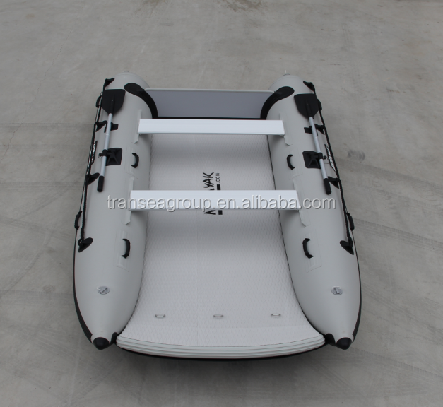 High quality catamaran style inflatable fishing boat supplier in China